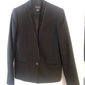 Club Monaco Wool blend Blazer with a leather Trim